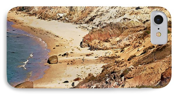 IPhone Case featuring the photograph Marthas Vineyard Gay Head Cliffs  Photo Art by Constantine Gregory