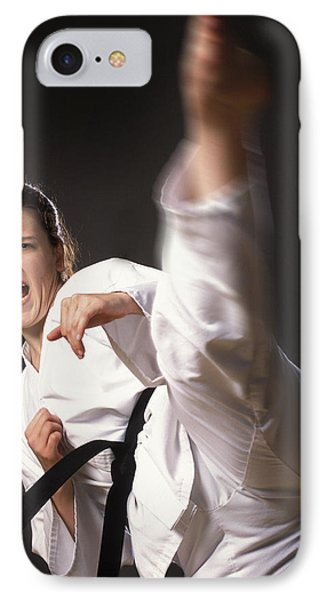 Martial Arts Kick IPhone Case by Don Hammond