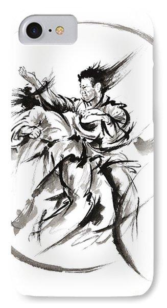 Martial Arts Poster. IPhone Case by Mariusz Szmerdt