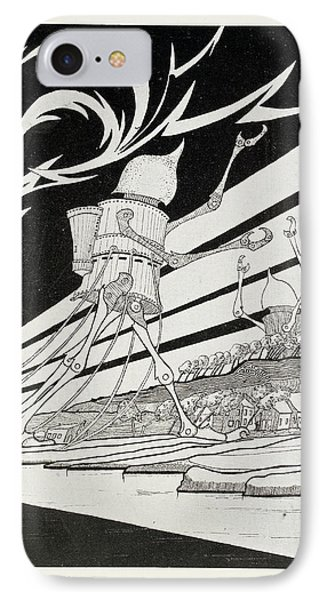 Martian Tripods IPhone Case by British Library