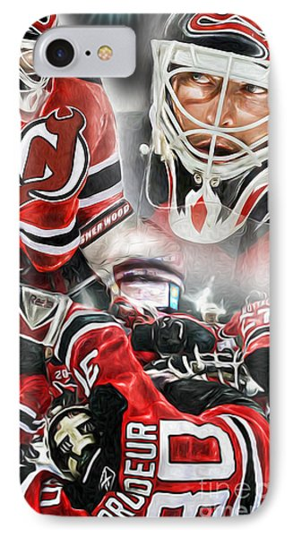 Martin Brodeur Collage Phone Case by Mike Oulton
