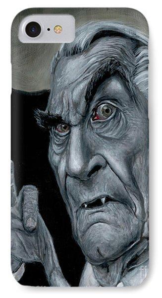 Martin Landau As Bela IPhone Case by Mark Tavares