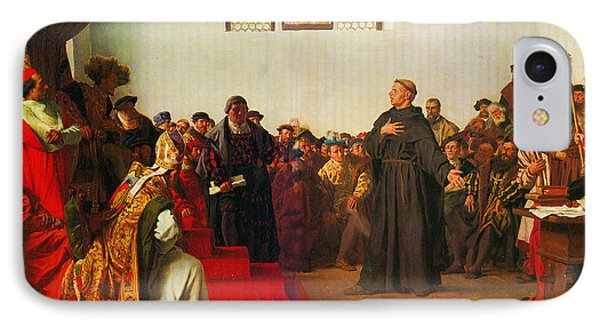Martin Luther Before The Diet Of Worms IPhone Case by Celestial Images