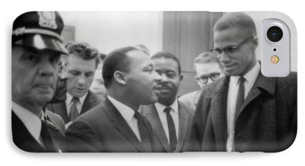 Martin Luther King Jnr 1929-1968 And Malcolm X Malcolm Little - 1925-1965 IPhone Case by Marion S Trikoskor