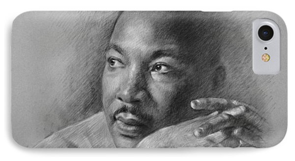 Martin Luther King Jr Phone Case by Ylli Haruni