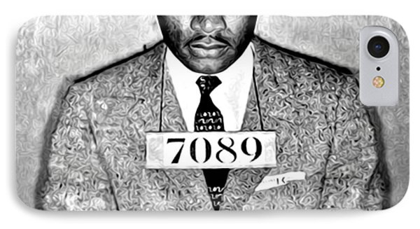 Martin Luther King Mugshot IPhone Case by Bill Cannon