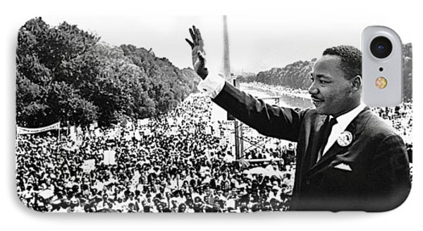 Martin Luther King The Great March On Washington Lincoln Memorial August 28 1963-2014 IPhone Case by David Lee Guss