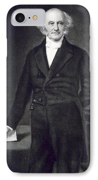 Martin Van Buren IPhone Case by George Healy