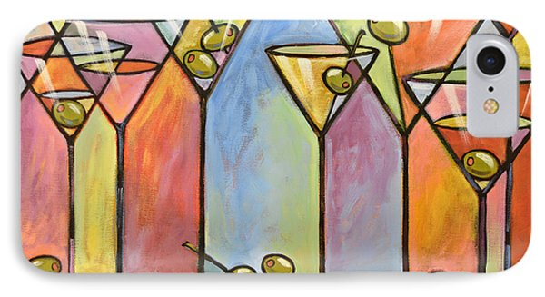 Martini Bar ... Abstract Alcohol Art IPhone Case by Amy Giacomelli