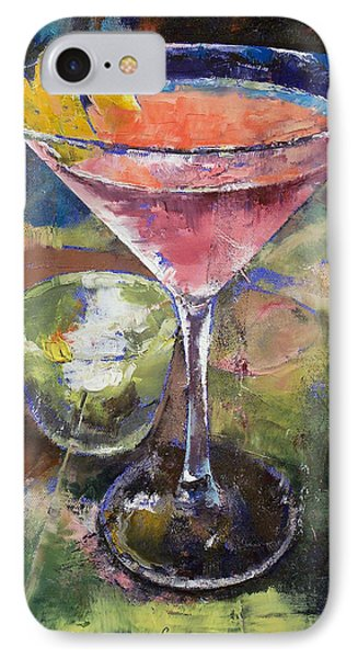 Martini IPhone 7 Case by Michael Creese