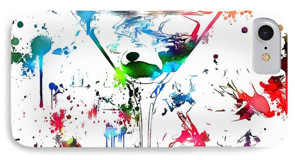 Martini Paint Splatter IPhone Case by Dan Sproul