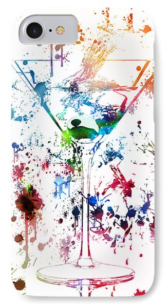 Martini Watercolor  IPhone Case by Dan Sproul