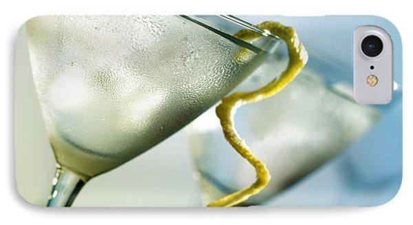 Martini With Lemon Peel Phone Case by Johan Swanepoel