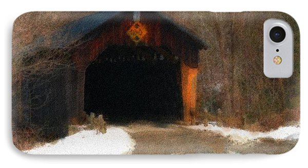 IPhone Case featuring the photograph Martinsville Covered Bridge by Mike Martin