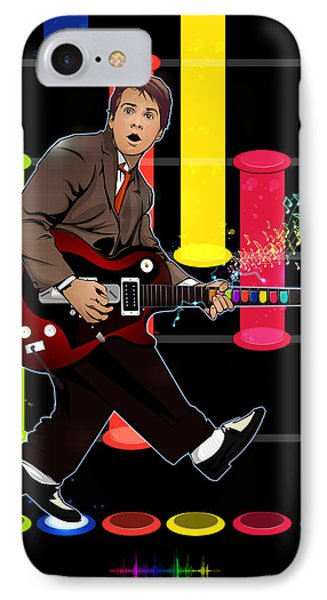 Marty Mcfly Plays Guitar Hero Phone Case by Akyanyme