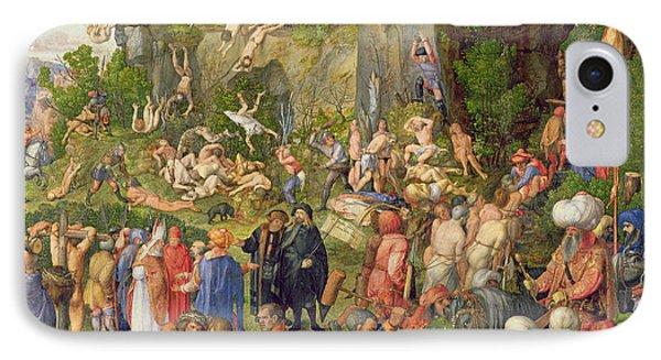 Martyrdom Of The Ten Thousand, 1508 IPhone Case by Albrecht Durer or Duerer
