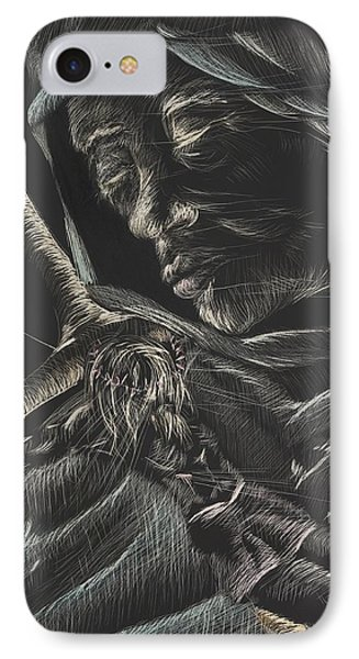 Mary-aged IPhone Case by Michelle Miller