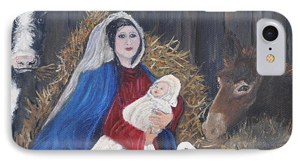 Mary And Baby Jesus Phone Case by Linda Clark