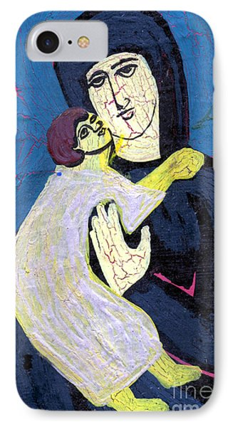 Mary And The Baby Jesus Phone Case by Genevieve Esson