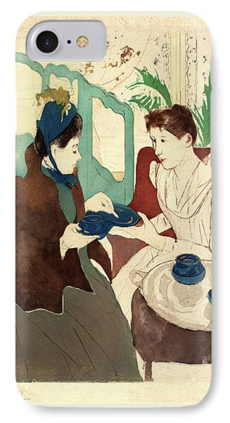 Mary Cassatt, Afternoon Tea Party, American IPhone Case by Litz Collection