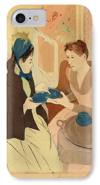 Mary Cassatt, Afternoon Tea Party, American IPhone Case by Quint Lox