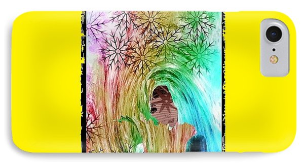 IPhone Case featuring the digital art Mary In The Field by Ann Calvo