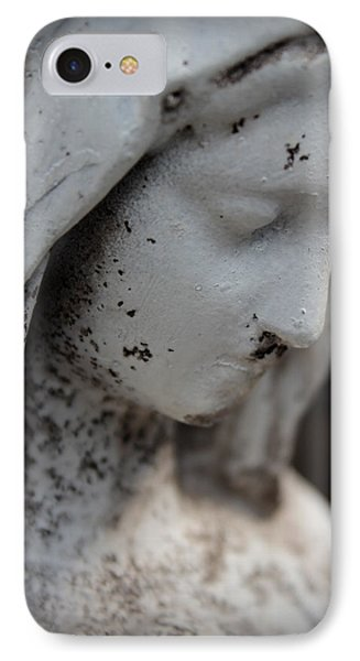 Mary In The Garden IPhone Case by Lynn Sprowl