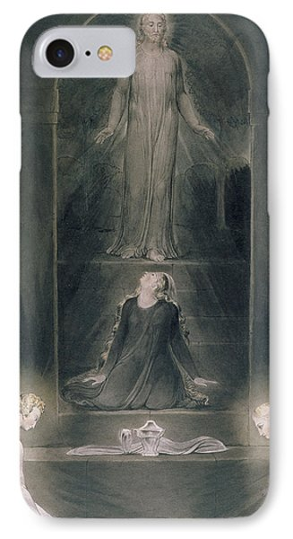 Mary Magdalene At The Sepulchre IPhone Case by William Blake