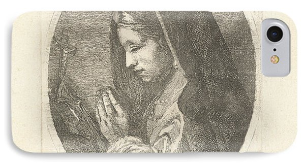 Mary Magdalene In Prayer, Louis Bernard Coclers IPhone Case by Louis Bernard Coclers And Anonymous