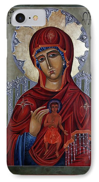 Mary Of The Burning Bush Phone Case by Mary jane Miller