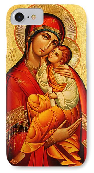 Mary The God Bearer IPhone Case by Philip Ralley