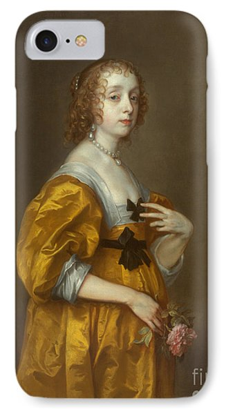 Mary Villiers Lady Herbert Of Shurland IPhone Case by Anthony van Dyck