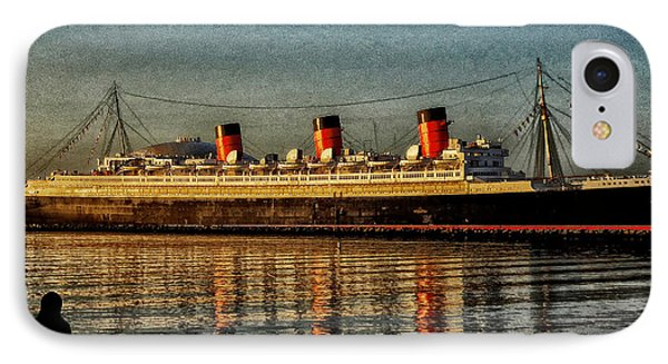 Mary Watches The Queenmary Phone Case by Bob Winberry