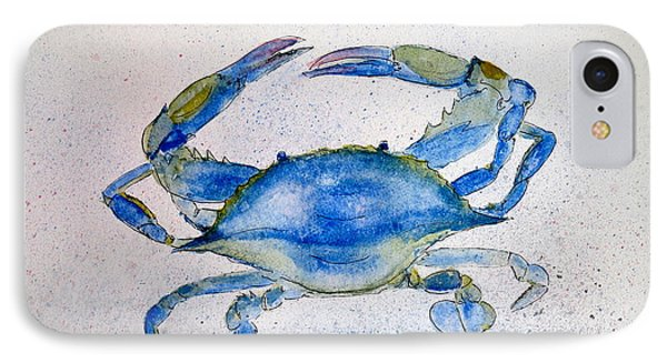 Maryland Blue Crab  IPhone Case by Nancy Patterson