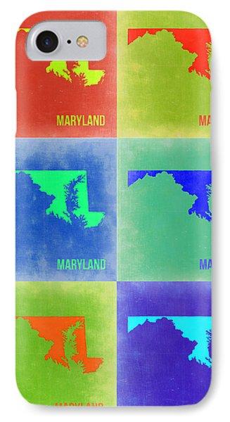 Maryland Pop Art Map 2 Phone Case by Naxart Studio