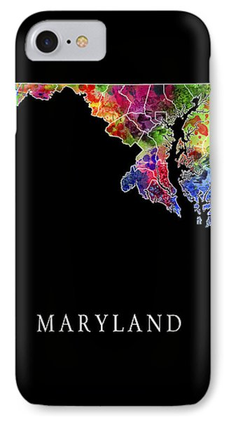 Maryland State IPhone Case by Daniel Hagerman