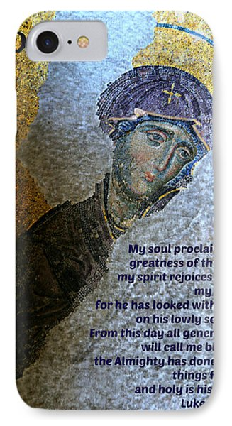 Mary's Magnificat Phone Case by Stephen Stookey
