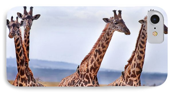 Masai Giraffe IPhone Case