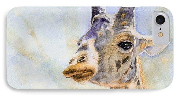 IPhone Case featuring the painting Masai Giraffe by Bonnie Rinier