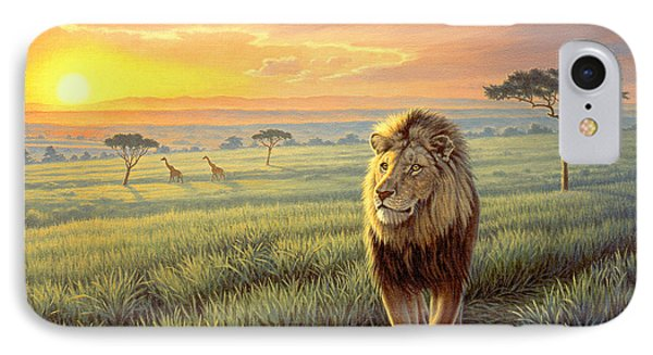 Masai Mara Sunset Phone Case by Paul Krapf