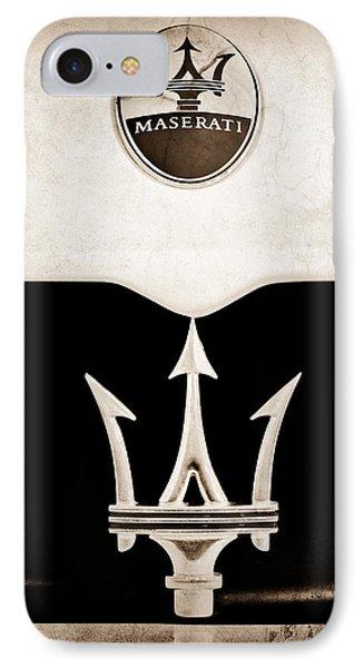 Maserati 2005 Mc12 Grille Emblem IPhone Case