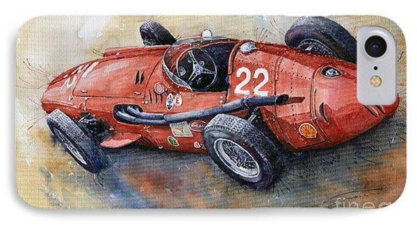 Maserati 250 F 1957  IPhone Case by Yuriy  Shevchuk