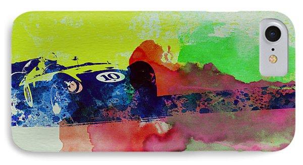 Maserati On The Race Track 2 IPhone Case by Naxart Studio