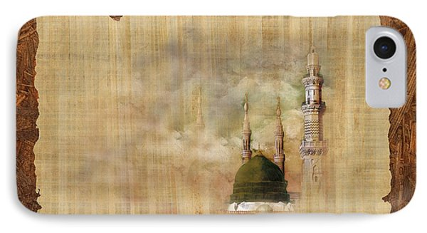 Masjid E Nabwi 01 IPhone Case by Catf