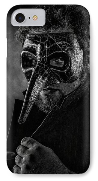 Mask Of The Red Death IPhone Case by Joshua Minso