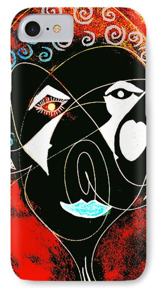 Masked Abstract IPhone Case