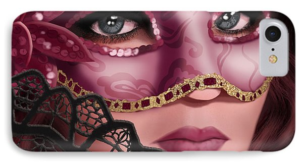 Masked II IPhone Case by April Moen