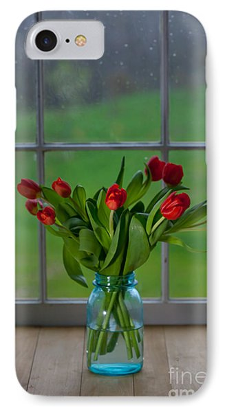 Mason Jar With Tulips Phone Case by Kay Pickens