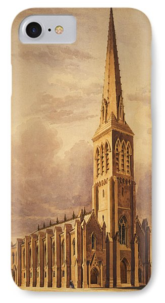 Masonry Church Circa 1850 IPhone Case by Aged Pixel