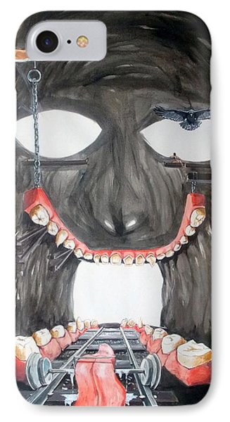 IPhone Case featuring the painting Masquera Carcaza  by Lazaro Hurtado